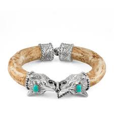 gucci anger forest wolf head bracelet