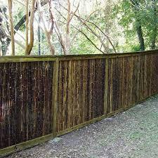 Black Bamboo Fence Backyard Fences Fence Design Bamboo Fence