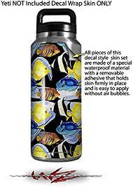 Amazon Com Wraptorskinz Skin Decal Wrap For Yeti Rambler Bottle 36oz Tropical Fish 01 Black Yeti Not Included Kitchen Dining