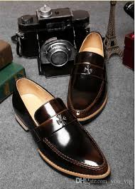 dress shoes men genuine leather