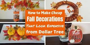 How To Make Cheap Fall Decorations From Dollar Tree Happy Mom Hacks