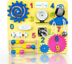 Amazon Com Busy Board For Toddlers Sensory Board Wooden Busy Board For Kids Activity Board For Toddlers 1 3 Locks And Latches Activity Board Baby Activity Board Toddler Educational Toys Toys Games