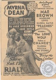 Myrna Dean: vintage newspaper ad for... - Burlyqnell - Vintage Photos of  Burlesque Dancers | Facebook