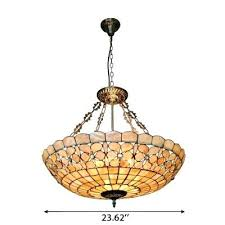 glass bowl pendant light stained