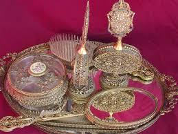 antique perfume trays on found