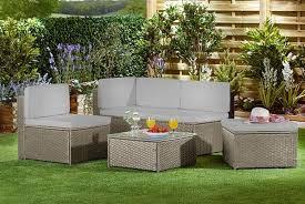 4 seater rattan sofa set garden