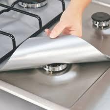 4pcs kitchen stove liner glass pad mat