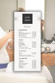 hair salon services menu list