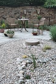 patio backyard landscaping rocks rock