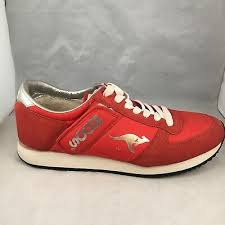 kangaroos roos red leather mens size 11