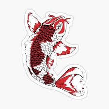 Koi Fish Stickers Redbubble