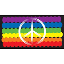 Peace Symbol Pride Vinyl Decal