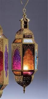 moroccan style multi coloured glass