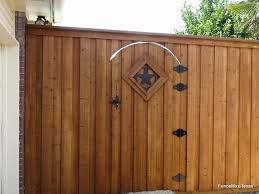 207 Wood Gate With Texas Star Insert Fence Max Texas
