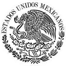 Mexican Flag Emblem Circle Sticker