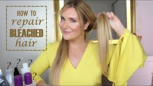 how to repair bleached damaged hair