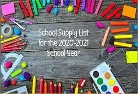 School Supplies - Sage Canyon Elementary
