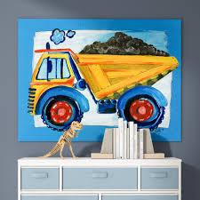 Zoomie Kids Heitz Dump Truck Graphic Art Reviews Wayfair