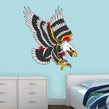 Bald Eagle Vinyl Wall Decal American Traditional Tattoo Wall Art Dec