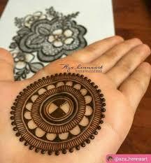 Simple New Mehandi Design Circle