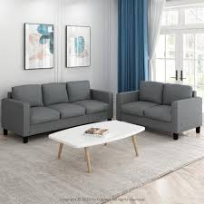 metal polyester 3 seater lawson sofa