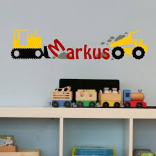 Shop All Decals Kids Name Initial Wall Decal Construction Custom Name Wall Decal Playroom Wall Decals Boys Room Decals Wall Decal Boys Room