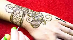 arabic mehndi design of back side