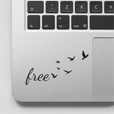 Macbook Decal Quote Free With Flock Of Flying Birds Motivational Laptop Decal Quote Inspirational Macbook Sticker Quote Laptop Decals Quote Macbook Stickers Laptop Decal