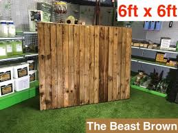 G G 6x6ft Premium Closed Board Fence Panel 01322787312