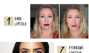 improperly contouring of the face