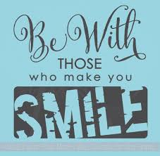 Be With Those Who Make You Smile Vinyl Letters Wall Decal Stickers Quotes