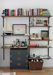 diy mounted shelving unit how to make