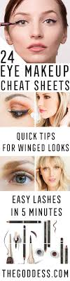24 eye makeup cheat sheets that