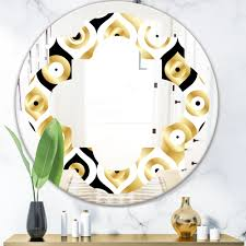 East Urban Home Quatrefoil Art Deco Metallic Luxury Geometrics Glam Frameless Wall Mirror Wayfair