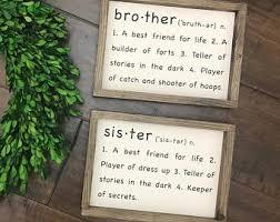 Sibling Sign Etsy