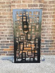 Abstract2 Metal Privacy Screen Decorative Panel Garden Fence Etsy