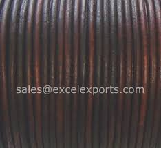 leather cord 2mm antique dark brown