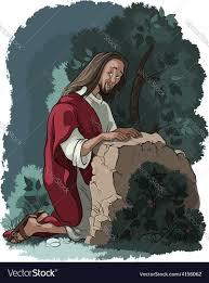 in gethsemane royalty free vector