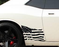 Buy 2x Side Distressed Usa Military Flag Star Truck Tj Cj Jk Lj Vinyl Sticker Decal