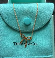 tiffany co 18k yellow gold mini bow
