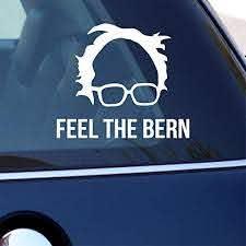 Amazon Com Celycasy Bernie Sanders Decal Set Feel The Bern Sticker Bernie S Hair And Glasses Logo Democratic Bumper Sticker For Car Laptop Window Home Kitchen