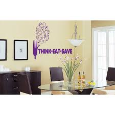 Shop Quote Stop Think Eat Save Wall Art Sticker Decal Purple Overstock 11857536