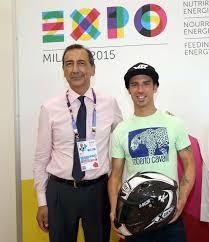 Oggi il campione di motociclismo Marco Melandri ha visitato Expo Milano  2015.