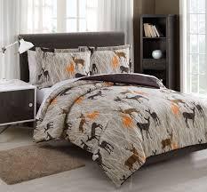 Microfiber Kids Deer Camo Tan Chocolate Reversible Comforter Set Bedroom Comforter Sets Deer Bedroom Decor Bedroom Decor
