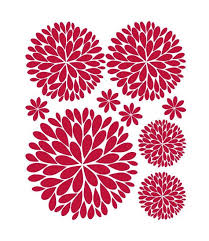 Another Bunch Of Dahlia Flowers Vinyl Wall Decal 29 95 Via Etsy Flower Wall Decals Girls Wall Decals Vinyl Wall Decals