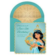 Jasmine Online Invitation Princesas Disney Invitaciones Disney
