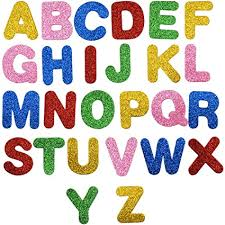 Kissral 26 Letter Stickers For Children School Nursery Wall Stickers Boys Girls Glitter Wall Stickers Kids Room Mixed Colors Flash Stickers For Early Learning Diy Crafts Decoration Fridge Scrapbooking Wall Letters
