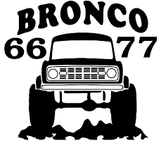 Early Bronco Decal Early Bronco Bronco Classic Bronco