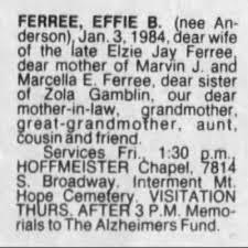 Effie Anderson Ferree obit - Newspapers.com