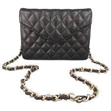 vintage i magnin black quilted leather